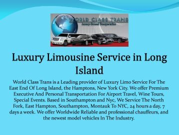 Luxury Limousine Service in Long Island