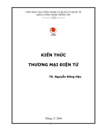 KI?N TH?C THUONG M?I ÐI?N T? - Download ebook miễn phí
