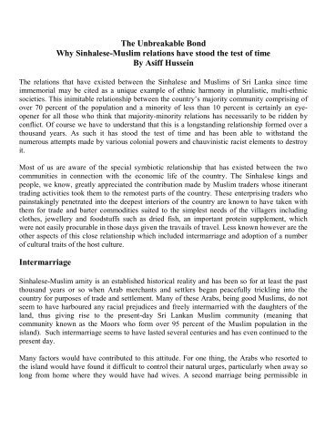 Sinhalese-Muslim Relations.pdf - Sailan Muslim