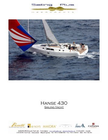 Hanse 430 - SAILING PLUS Yachts