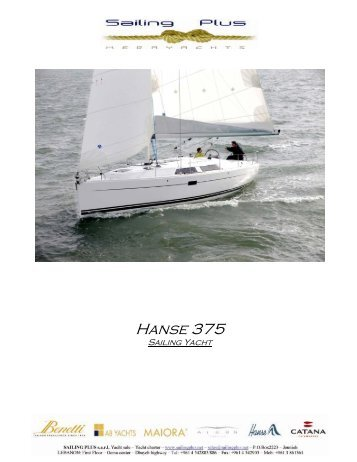 Hanse 375 - SAILING PLUS Yachts