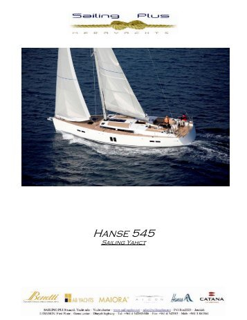 Hanse 545 - SAILING PLUS Yachts