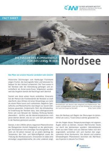 Die Folgen des Klimawandels für das Leben in der Nordsee