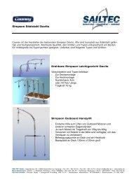 Simpson Edelstahl Davits von Cooney - SAILTEC GmbH