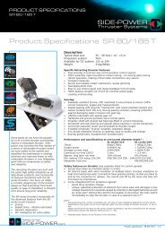 Product Specifications SR 80/185 T - side-power