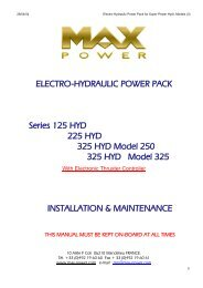 ELECTRO-HYDRAULIC POWER PACK Series 125 ... - Max Power