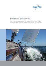 Katalog und Preisliste 2013 - SAILTEC GmbH