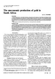 The uneconomic production of gold in South Africa - saimm