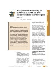 Investigation of factors influencing the determination of ... - saimm