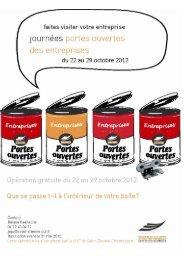 JOURNEES PORTES OUVERTES DES ENTREPRISES 2012 ...