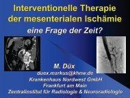 Interventionelle Therapie der mesenterialen Ischämie – eine ... - Saint