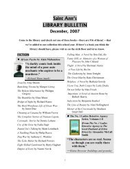 Library Bulletin - December 2007 PDF - Saint Ann's LIBRARY ...
