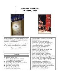 Library Bulletin - October 2003 PDF - Saint Ann's School