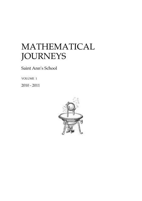 Mathematical Journeys - Saint Ann's School
