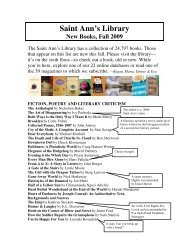 Library Bulletin - Fall 2009 PDF - Saint Ann's School