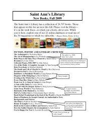 Library Bulletin - Fall 2009 PDF - Saint Ann's School