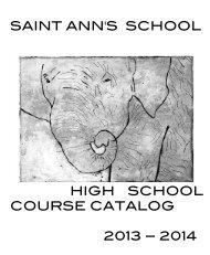 High School Course Catalog 2013-14 - Saint Ann's School