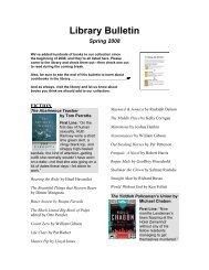 Library Bulletin - Spring 2008 PDF - Saint Ann's School