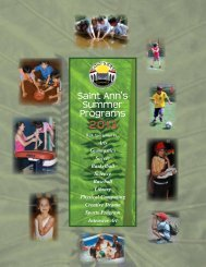 Summer Programs - Saint Ann's School