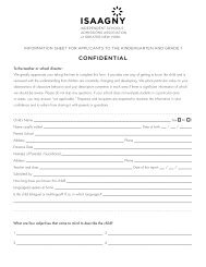 ISAAGNY Evaluation Form - Saint Ann's School