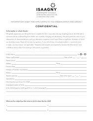 ISAAGNY Evaluation Form - Saint Ann's School