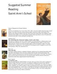 8th grade - Saint Ann's School