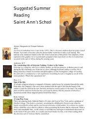 8th grade - Saint Ann's School