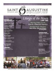 Third Sunday of Lent - Welcome :: St. Augustine Church & Catholic ...