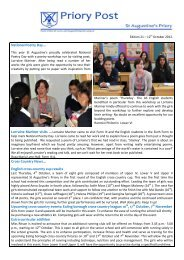 to view a pdf version of Priory Post 21 - St Augustine's Priory