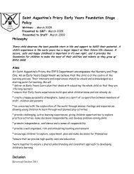 E10 Policy-EYFS Policy - St Augustine's Priory