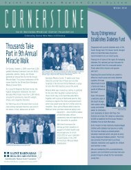 Cornerstone - Winter 2010 Issue 1 pdf - Saint Barnabas Medical ...