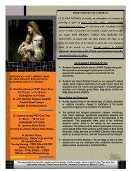 2013/2014 Family Handbook - St. Boniface & St. Lawrence Church
