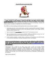Youth Wrestling Sign-Ups - Saint Catherine School