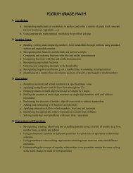 Math Curriculum for Fourth Grade - Saint Catherine School