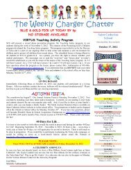 The Weekly Charger Chatter - Saint Catherine School