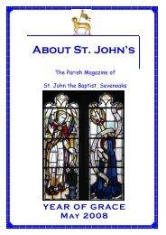 May 2008 edition - The Church of St John The Baptist, Sevenoaks
