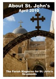 April 2010 Edition (PDF 4.1MB) - The Church of St John The Baptist ...