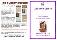 February 2008 edition - The Church of St John The Baptist, Sevenoaks