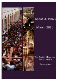 March 2010 edition (PDF 3.16MB) - The Church of St John The ...