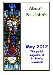 About St John's May 2012 - The Church of St John The Baptist ...