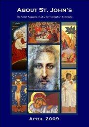 April 2009 edition (PDF 3.76MB) - The Church of St John The Baptist ...