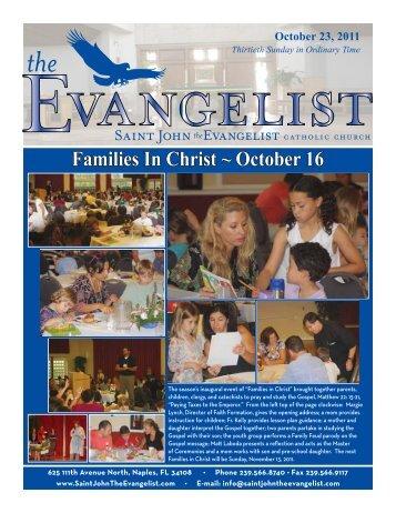 October 23, 3011 - Saint John The Evangelist