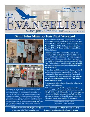 January 22, 2012 - Saint John The Evangelist