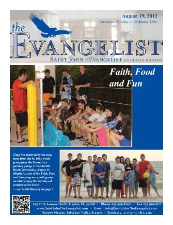 August 19, 2012 - Saint John The Evangelist