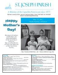 May 13, 2012 Sixth Sunday of Easter - St. Joseph Parish