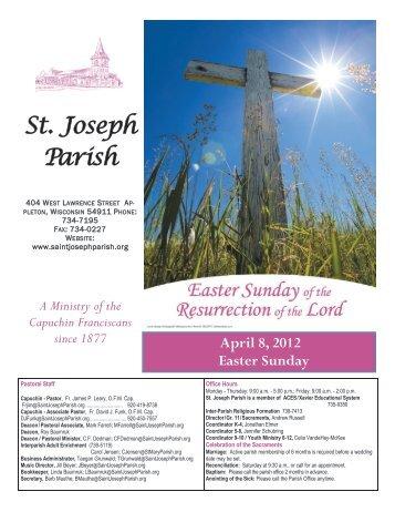April 8, 2012 Easter Sunday - St. Joseph Parish