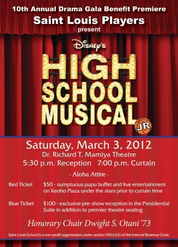 High School Musical Flyer.indd - Saint Louis School