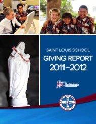 2011-12 Annual Report - Saint Louis School