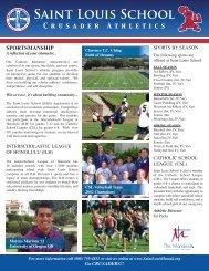 Athletic Handbook - Saint Louis School