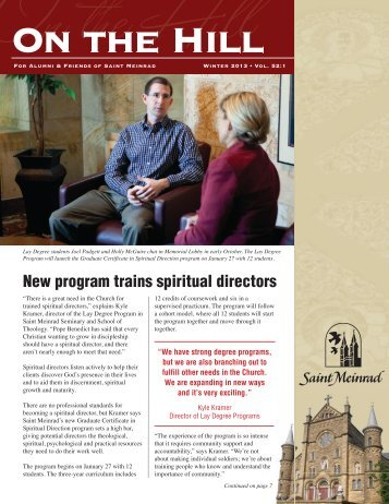 Winter 2013 - Saint Meinrad Seminary and School of Theology